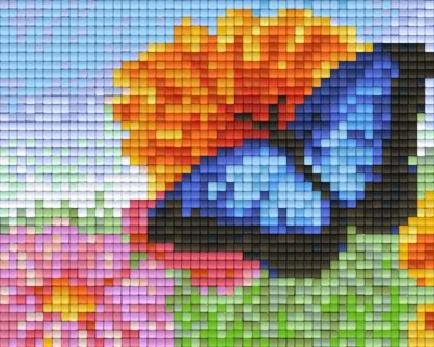 801364_Pixelset-Schmetterling-mit-Blumen-2