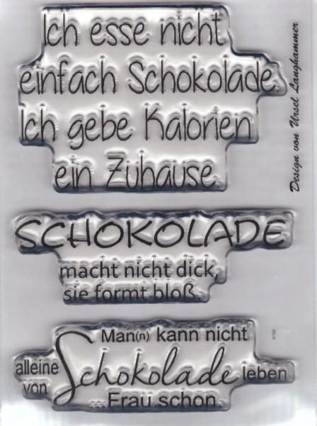 """A7 /""""Schokolade macht nicht /"""" Stempel Clear"""