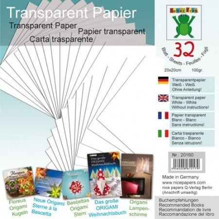 Transparentpapier weiß 20x20cm 32Blatt