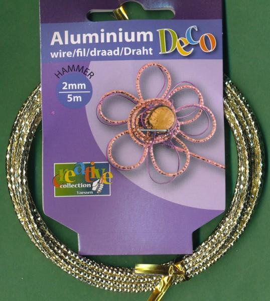 Aludraht 'Hammer' 2mm pearl