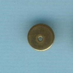 Metallperle Scheibe 8mm gold