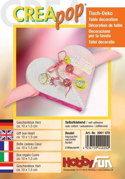 Creapop Geschenkbox Herz