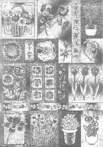Dufex-Motivbogen Blumen
