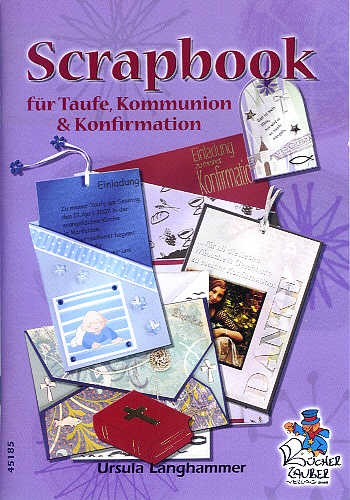 Buch Scrapbook für Taufe, Kommunion, Konfirmation