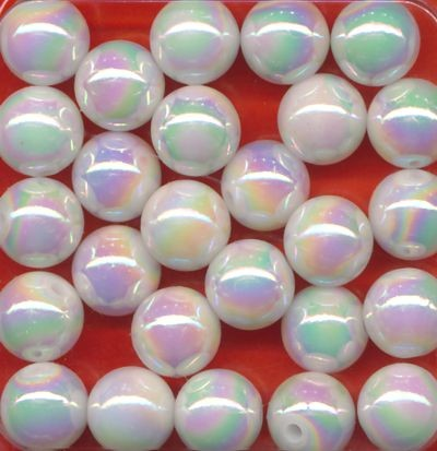 Wachsperlen 10mm perlweiß