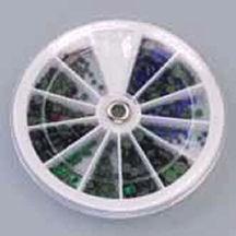 Strasssteine-Set hot-fix lila blau grün