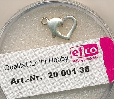 Karabiner Herz 925 silber 12mm