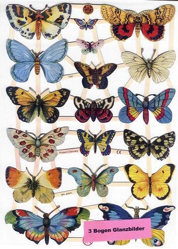 Poesiebilder Schmetterlinge 3Bogen