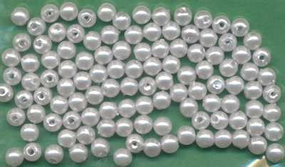 1031047 Wachsperlen 4mm hellblau 100 Stück